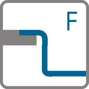 Typy zabudowy Montowany na równi z blatem (F)